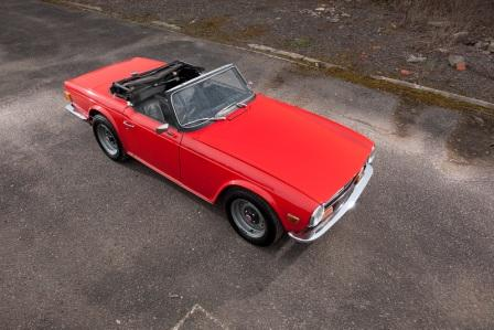 Triumph TR6 added to the fleet...