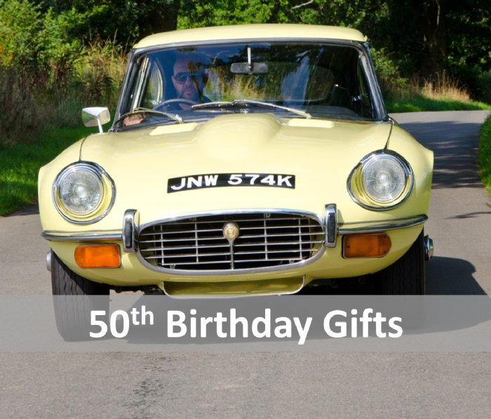 Great Escape Cars 50th birthday gift ideas and presents