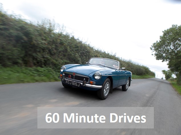 Classic car country drives, classic tasters and 60 minute drives