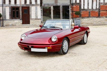 Great Escape Classic Car Hire Alfa Romeo Spider S4 or self drive rental from our base in Inkberrow in Worcestershire