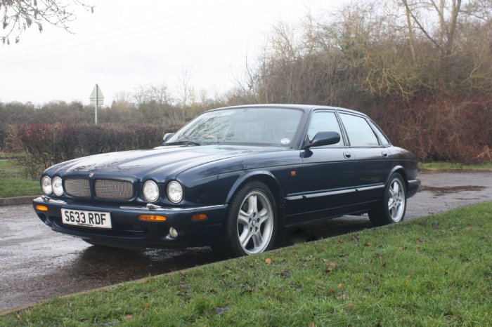 Jaguar XJR saloon for hire in the Cotswolds