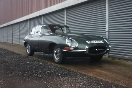 Great Escape Classic Car Hire Jaguar E Type coupe series 1 for self drive rental in Yorkshire ideal for the Yorkshire Moors and Dales