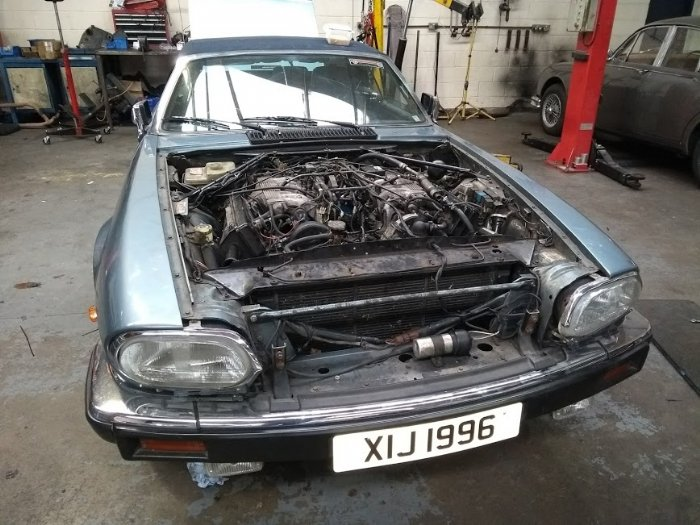 Jaguar XJS V12 engine and gearbox transplant