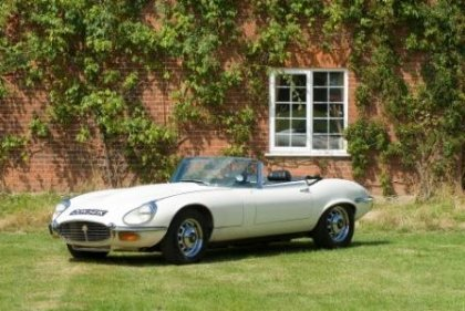 Great Escape Classic Car Hire Jaguar E Type V12 convertible for self drive rental in Suffolk