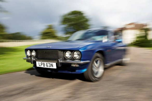Great Escape Classic Car Hire 1974 Jensen Interceptor Mk3 self drive classic wedding car for the groom and best man