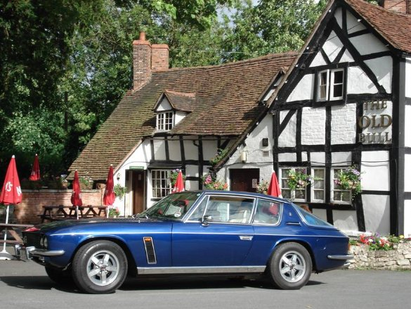 Great Escape Classic Car Hire 1974 Jensen Interceptor with blue paintwork and cream interior is ideal for a 30th birthday present