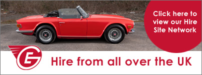 Great Escape Classic Car Hire operates 4 main locations in Devon, Cotswolds and Yorkshire plus a network of Owner Operator sites