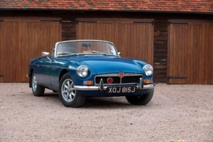 Great Escape Classic Car Hire in France MGB convertible for self drive hire near Paris for tours of the Loire Valley