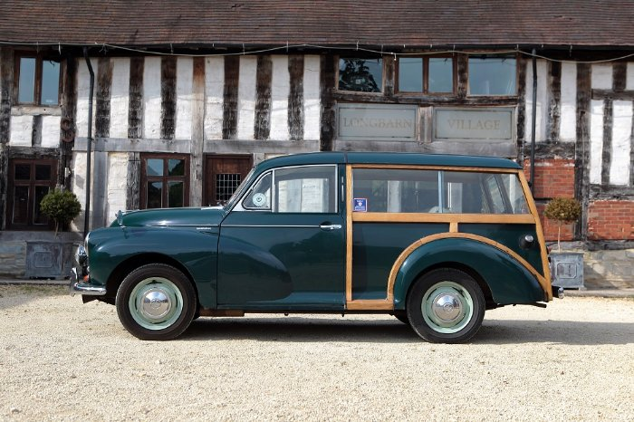 Morris Minor Traveller for hire