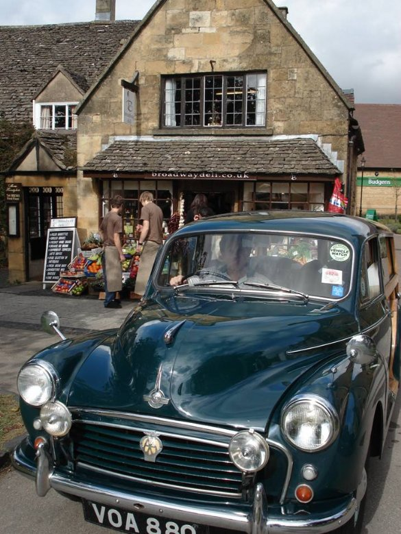 The Great Escape Classic Car Hire 1957 Morris Minor Traveller makes a perfect and unusual 50th birthday present or gift