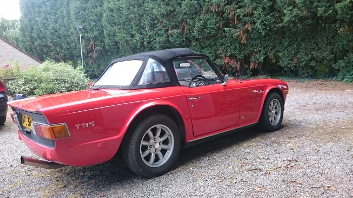 Great Escape Cars Triumph TR6 for hire in the Cotswolds