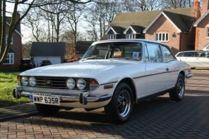 Great Escape Classic Car Hire Triumph Stag for self drive rental in Yorkshire