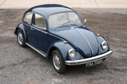 Great Escape Classic Car Hire VW Beetle for self drive rental in the Cotswolds