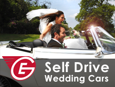 Great Escape Classic Car Hire bridal and groom cars for self drive rental in the Midlands