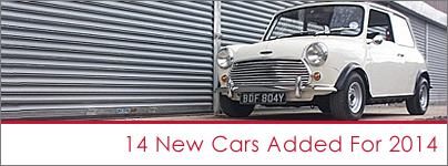 Latest classic cars to hire 2014
