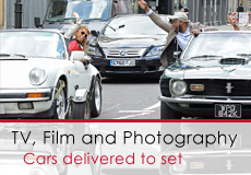 Cars For Hire For TV, Film, Photography and Event Work