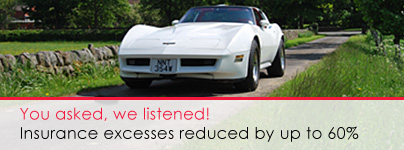 Classic Car Hire with low insurance excess