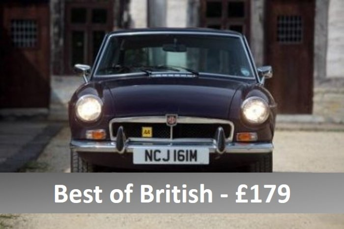 Three car Best of British experience with E Type, Healey and MGB