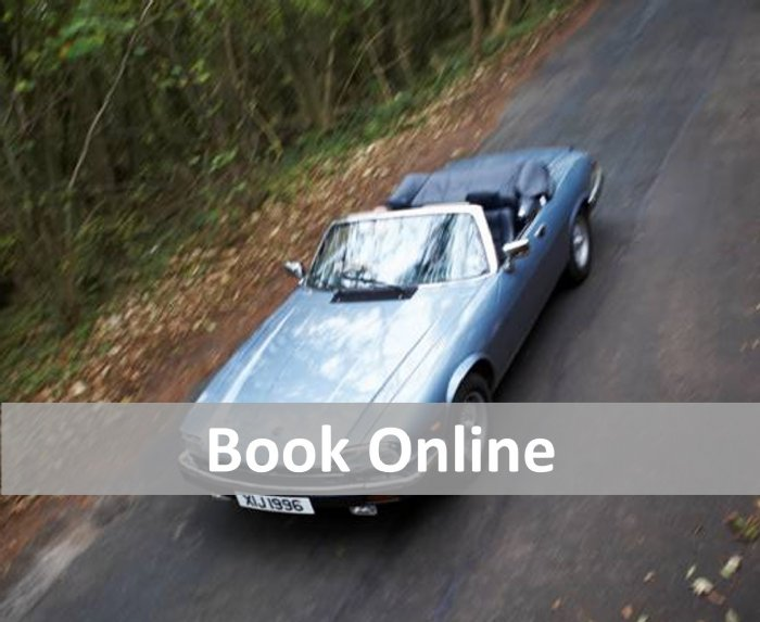 Book securely online for Great Escape Cars classic car hire fleet