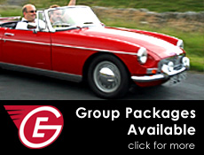 Planning a getaway with friends? Add classic cars for less than the price of a B&B