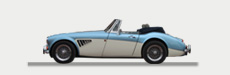 Great Escape Classic Car Hire classic Austin Healey for self drive rental