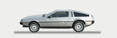 Great Escape Classic Car Hire classic Delorean for self drive rental