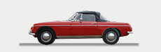 Great Escape Classic Car Hire classic MGs for self drive rental