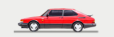 Great Escape Classic Car Hire classic Saab for self drive rental in the Yorkshire and Cotswolds
