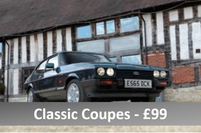 Three car classic coupe experience for £99