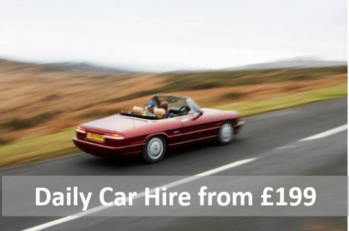 Classic Car Hire - perfect gift for two from £99