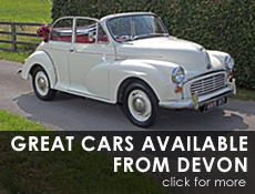 Great Escape Classic Car Hire now available in Devon and Cornwall for self drive classic car hire