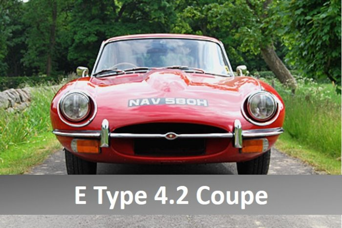 Jaguar E Type Series 2 4.2 litre coupe for hire
