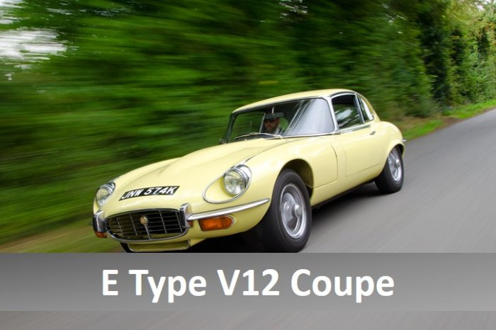 ... Jaguar E Type V12 Coupe For Hire