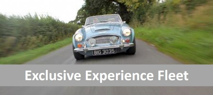 Great Escape Cars exclusive classic car fleet for road trips and driving experiences