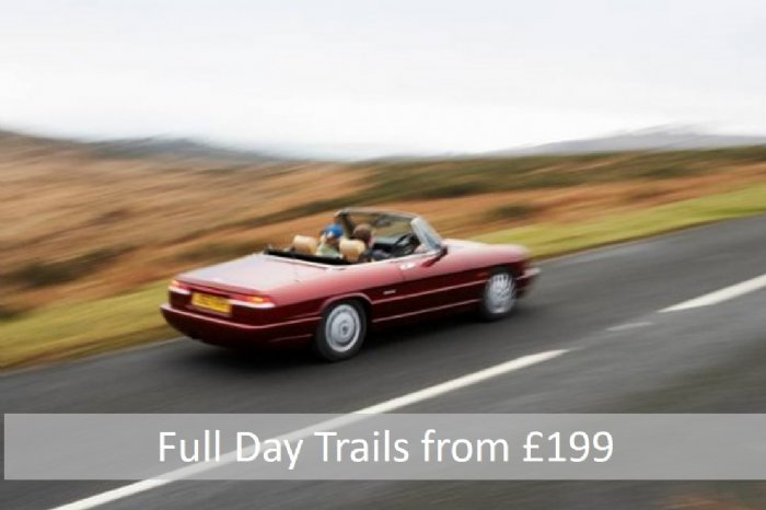 Full Day Classic car driving trails in your choice of classic car from £199