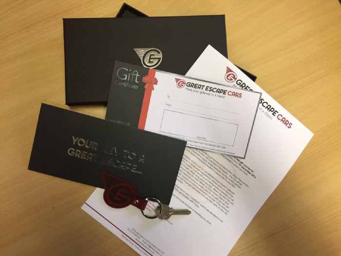 New Great Escape Cars gift voucher packs