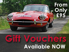 Great Escape Classic Car Hire gift vouchers now available to buy online for Christmas