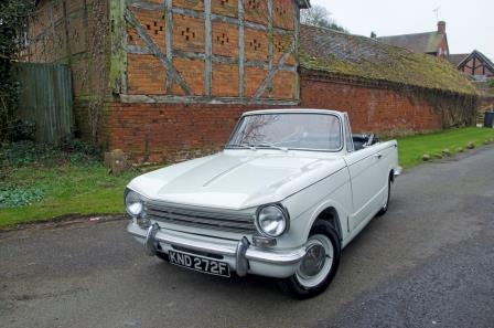 Hire a Triumph Herald in the Cotswolds