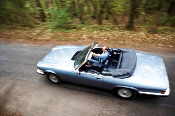 Great Escape Cars Jaguar XJS convertible to hire in the Cotswolds