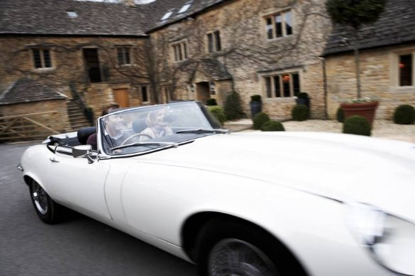 Great Escape Classic Car Hire Jaguar EType V12 convertible is a great way to celebrate a 30th birthday present