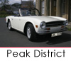 Classic car hire in the Peak District