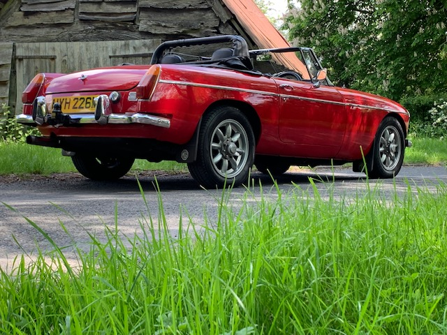 Great Escape Cars MGB V8 convertible for self drive hire by the day, hour or part of our road trips