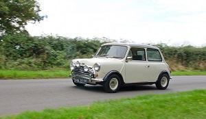 Great Escape Cars classic Mini Cooper for self drive hire in the Cotswolds