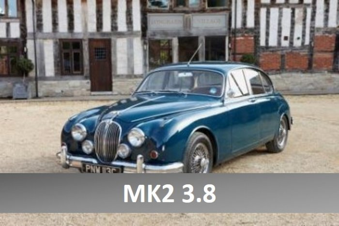 Jaguar Mk2 3.8 for hire in the Cotswolds