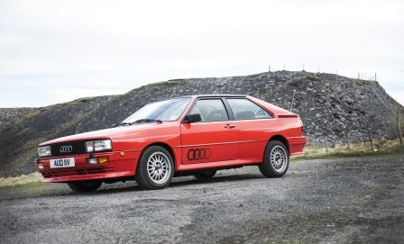Classic Audi Quattro for hire in the Cotswolds