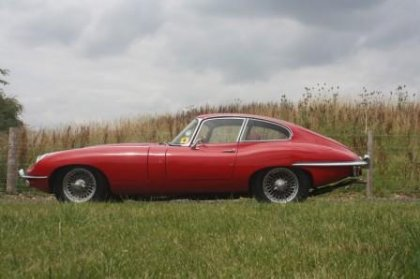 Great Escape Cars Series 2 Jaguar E Type coupe for hire