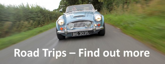 Discover more information about our classic car road trip driving experiences in the Midlands