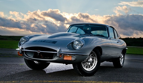 Great Escape Cars Series 2 Jaguar E Type for hire in the Cotswolds