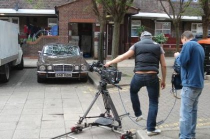 Great Escape Classic Car Hire Jaguar XJ6 saloon for self drive rental in Yorkshire used on a Sky TV photoshoot