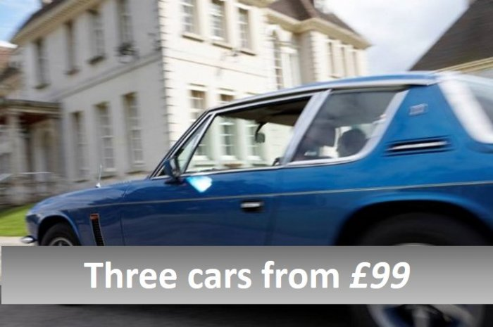 Three car classic taster experiences from £99